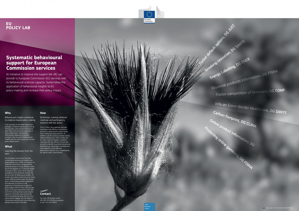 Systematic behavioural support for European Commission services
