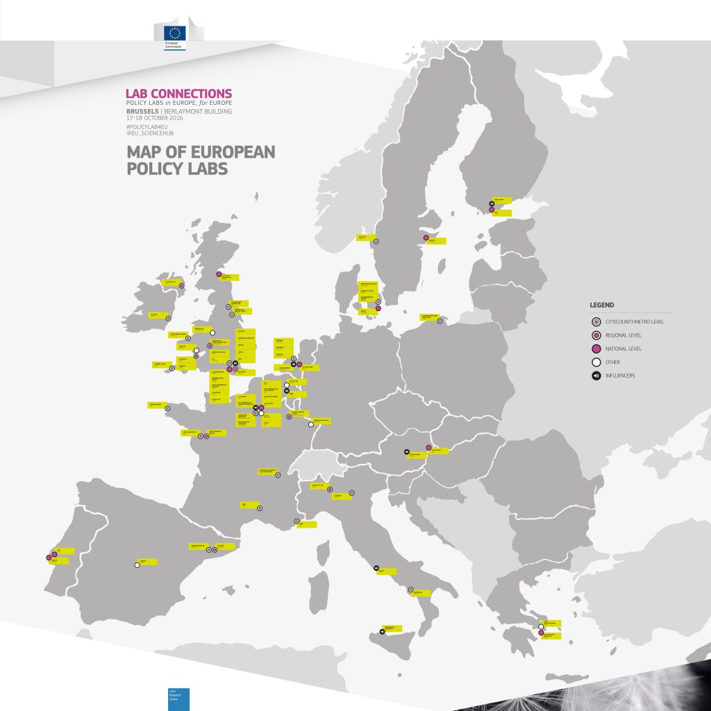 Map of European policy labs