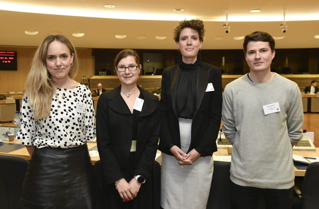From left to right, Jemima Kelly, Marta Piekarska, Anne Marie Engtoft Larsen and Fabian Gompf.
