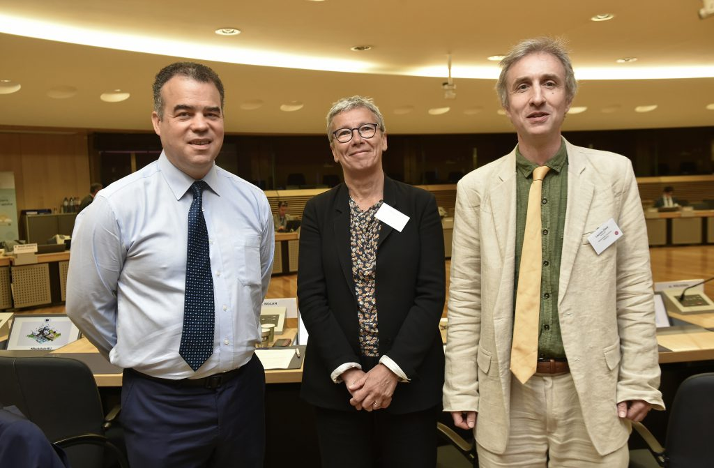 From left to right, Alistair Nolan, Christ'l Joris and Laurent Zibell.