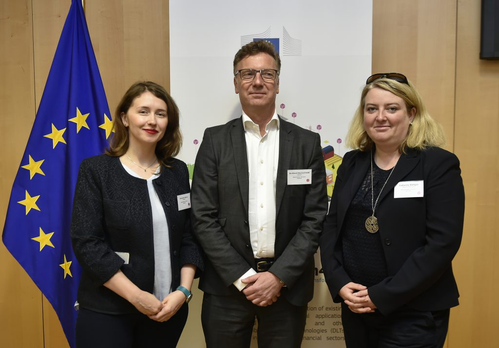 From left to right, Alexandra Moraru, Burkhard Blechschmidt and Catherine Mulligan.