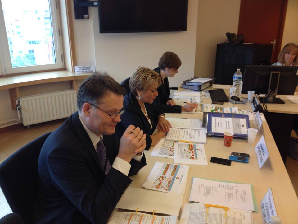 Members of the EEPA jury and EEPA secretariat meeting in Brussels
